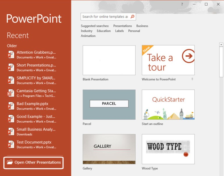 PowerPoint Opening