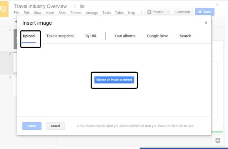 Google Slides Insert Image Tool