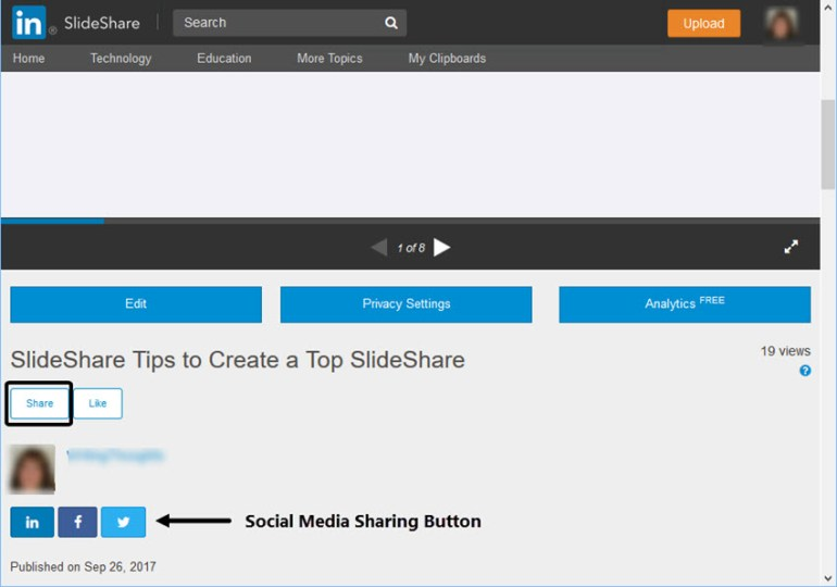 SlideShare Share Button