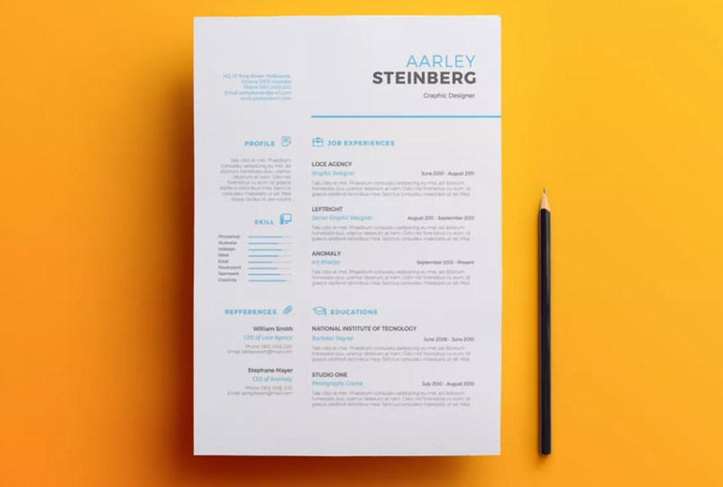 18 Professional Business Resume Templates for 2018 Minimalist Resume 03   Professional Resume