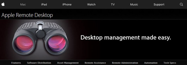 Apple Remote Desktop software