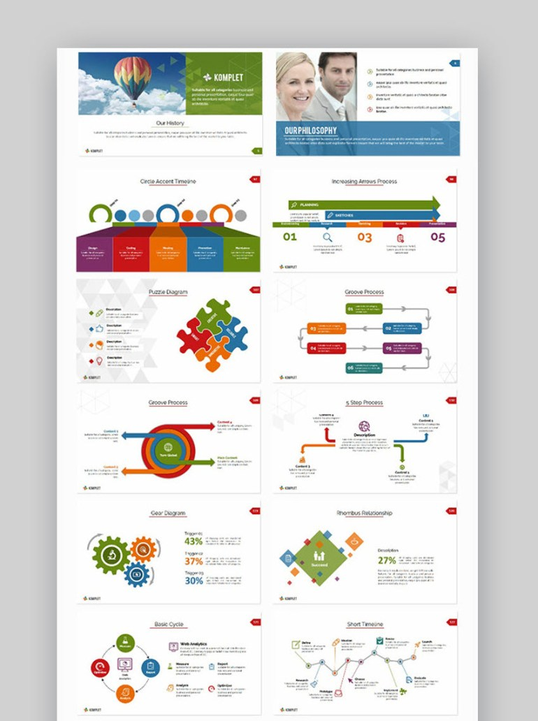 PowerPoint flowcharts in Komplete template