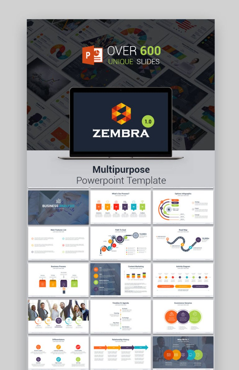 Zembra PowerPoint template