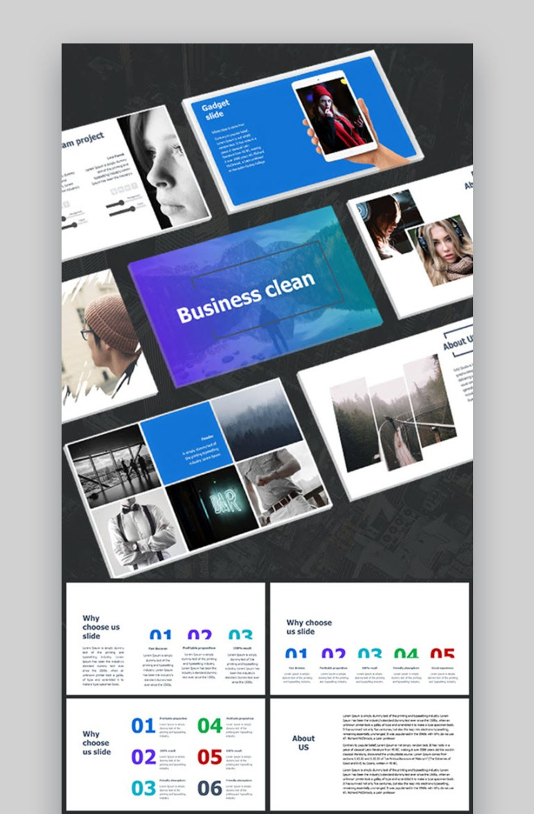 business clean PowerPoint template