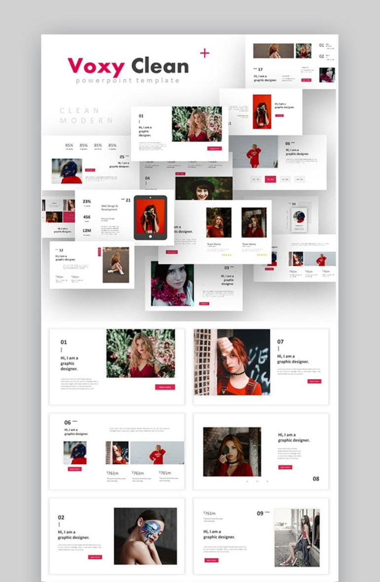 Voxy Clean PowerPoint template