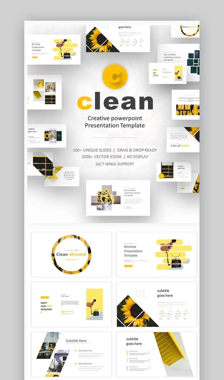 clean minimalist PowerPoint template