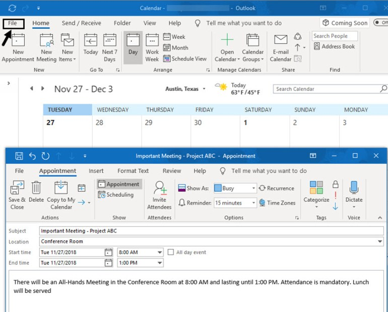 Save items to desktop or folder