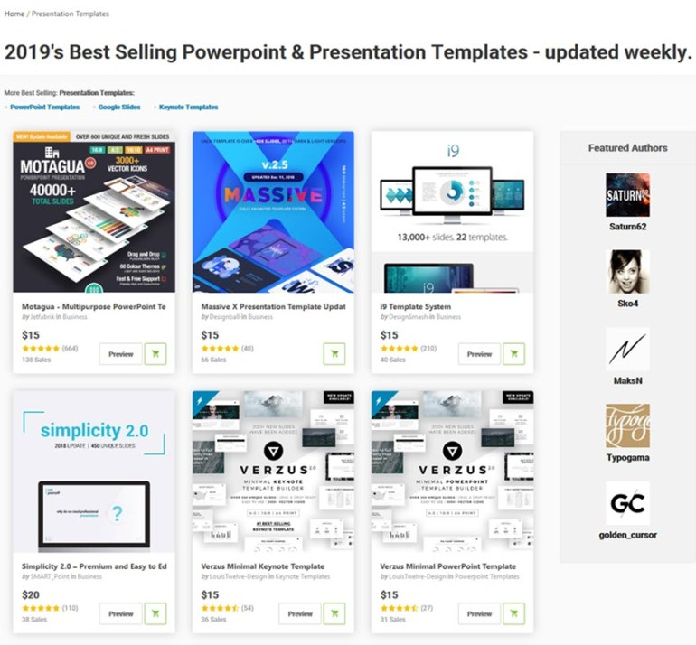 simple PowerPoint templates on GraphicRiver