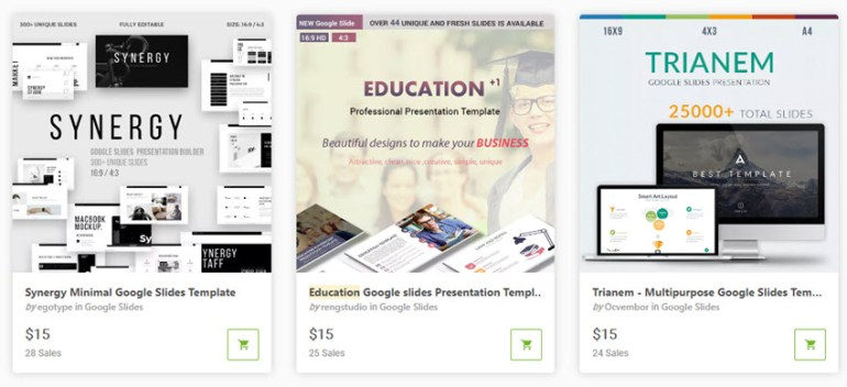 Google Slides Templates for teachers on GraphicRiver