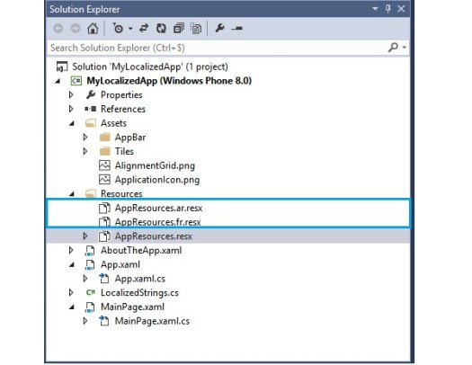 New AppResourcesresx files for each new supported language