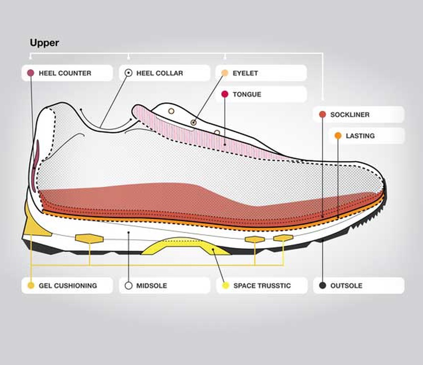 Anatomy of a Running Shoe | ASICS South Africa