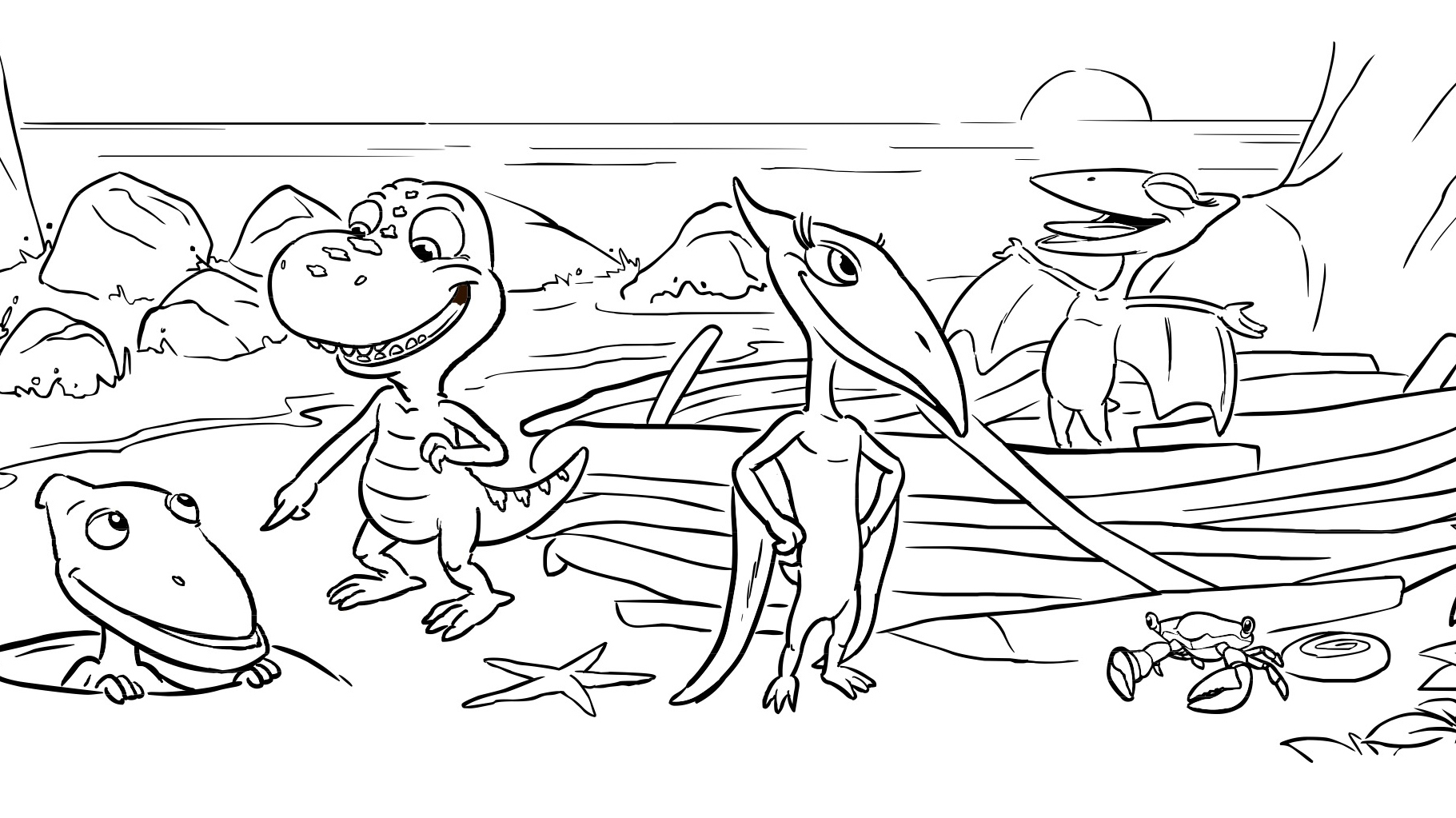 Dinosaur Friends Coloring Page Kids Coloring Pbs Kids For Parents