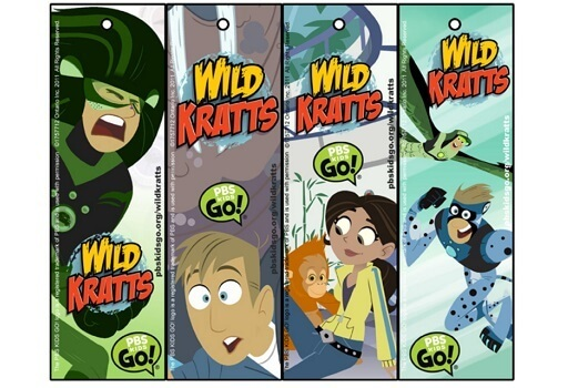 Wild Kratts Bookmarks Kids Coloring Pages Pbs Kids For Parents