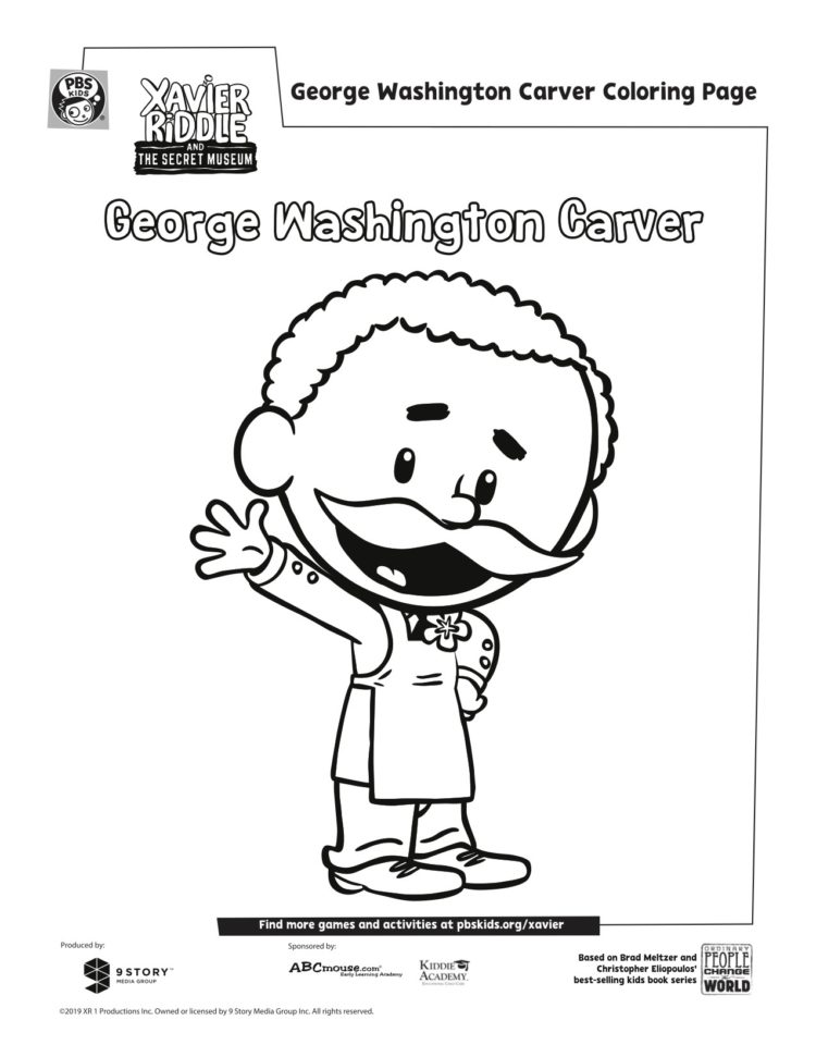 George Washington Carver Coloring Page Kids Pbs Kids For Parents
