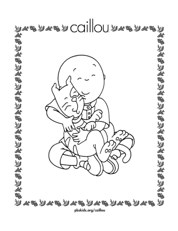 Caillou And Gilbert Coloring Page Kids Pbs Kids For Parents