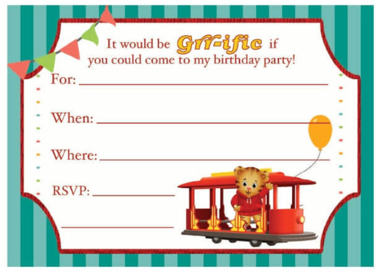 Daniel Tiger Birthday Party Invitation Kids Pbs Kids For Parents