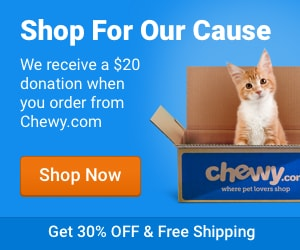 Order your Pet Food at Chewy.com and Central New York SPCA will get a $20 donation!