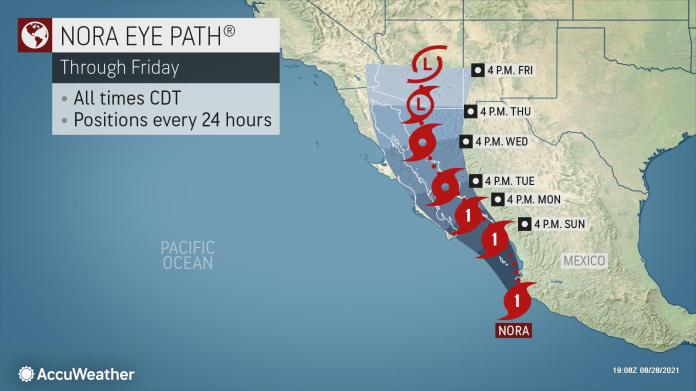 Hurricane Nora blasting southwest Mexico with heavy rain, gusty winds |  AccuWeather