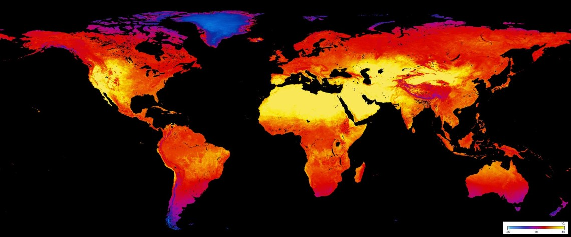 LAND SURFACE TEMPERATURE [DAY] (1 MONTH - TERRA/MODIS)