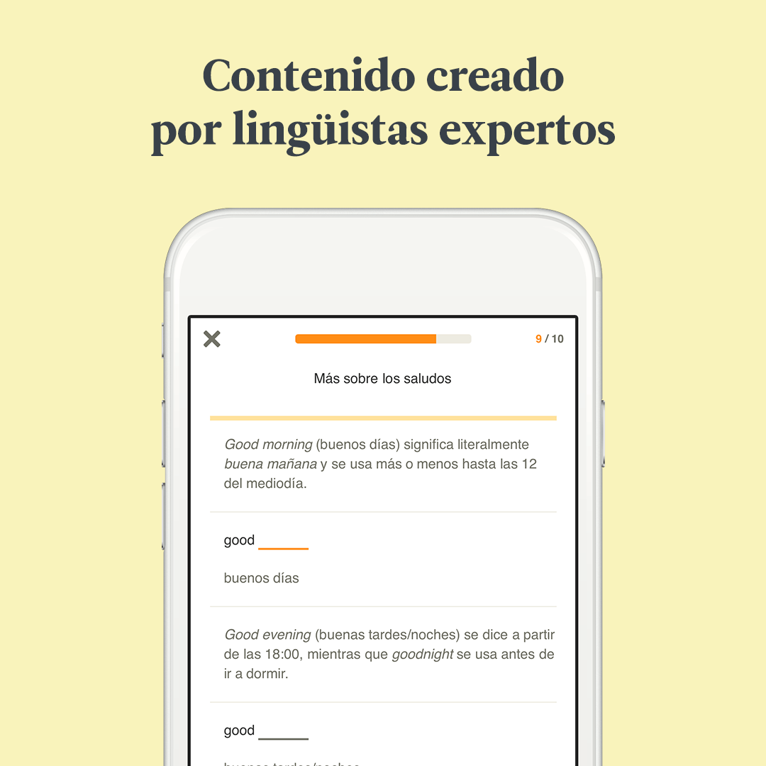 Contenido creado por expertos en lenguas extranjeras
