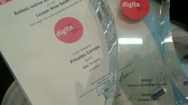 Excellent! We receive the German Educational Media Award