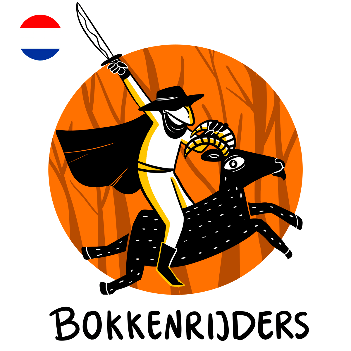 Bokkenrijders, illustration of thieves riding goats