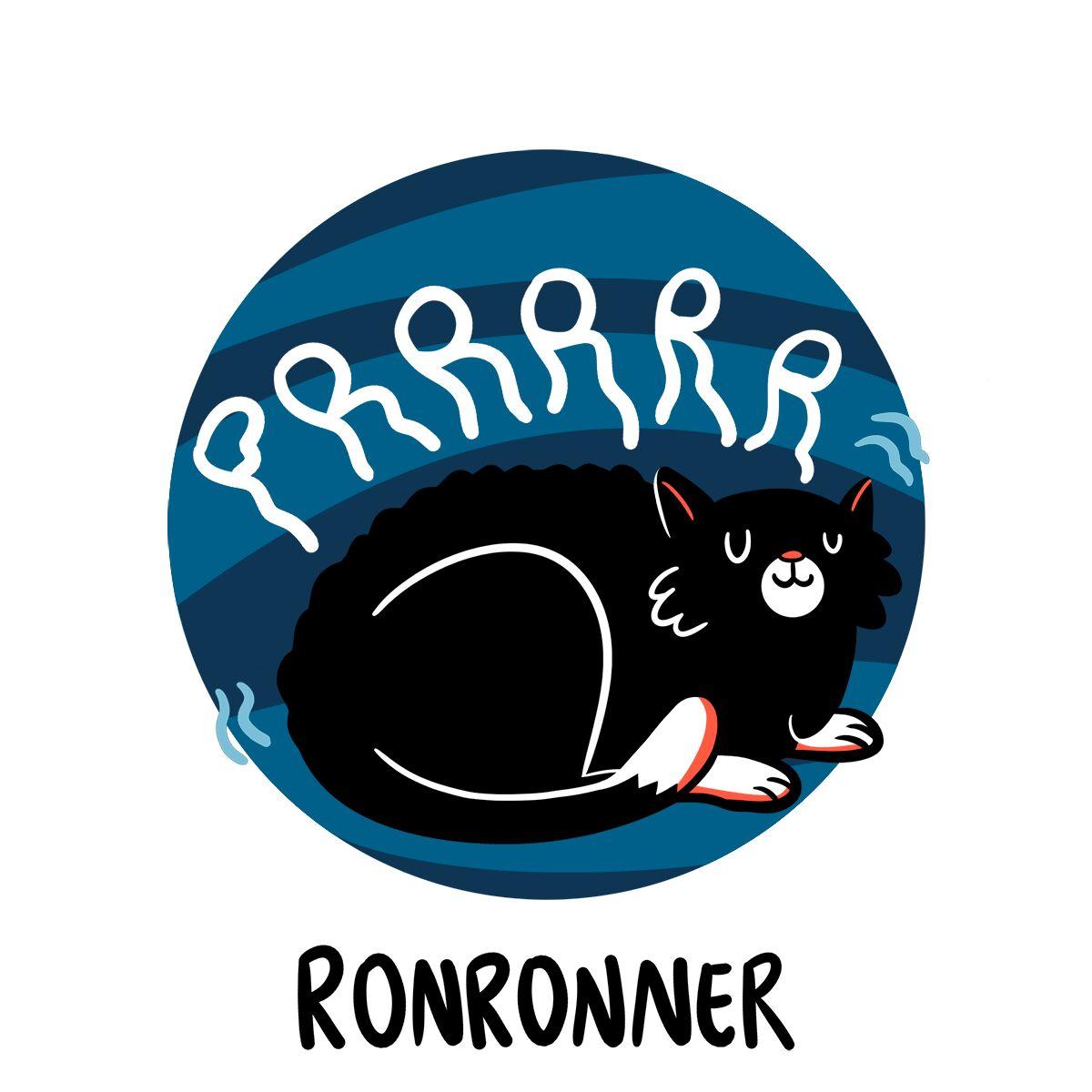 Un chat noir détendu ronronne