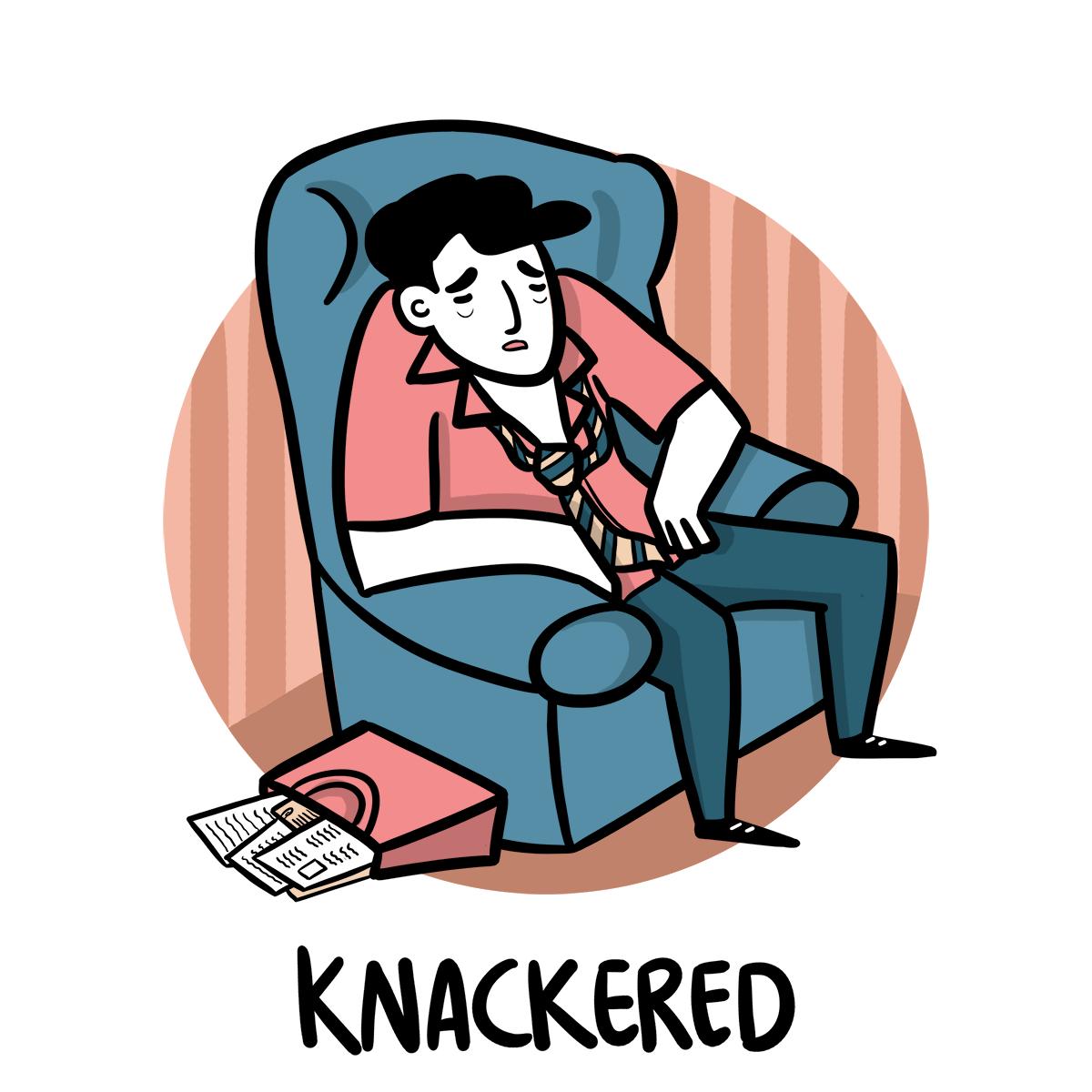 slang inglese knackered
