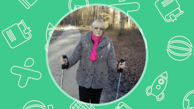 Suzy, de Passavant-en-Argonne, aprende español durante el Camino de Santiago