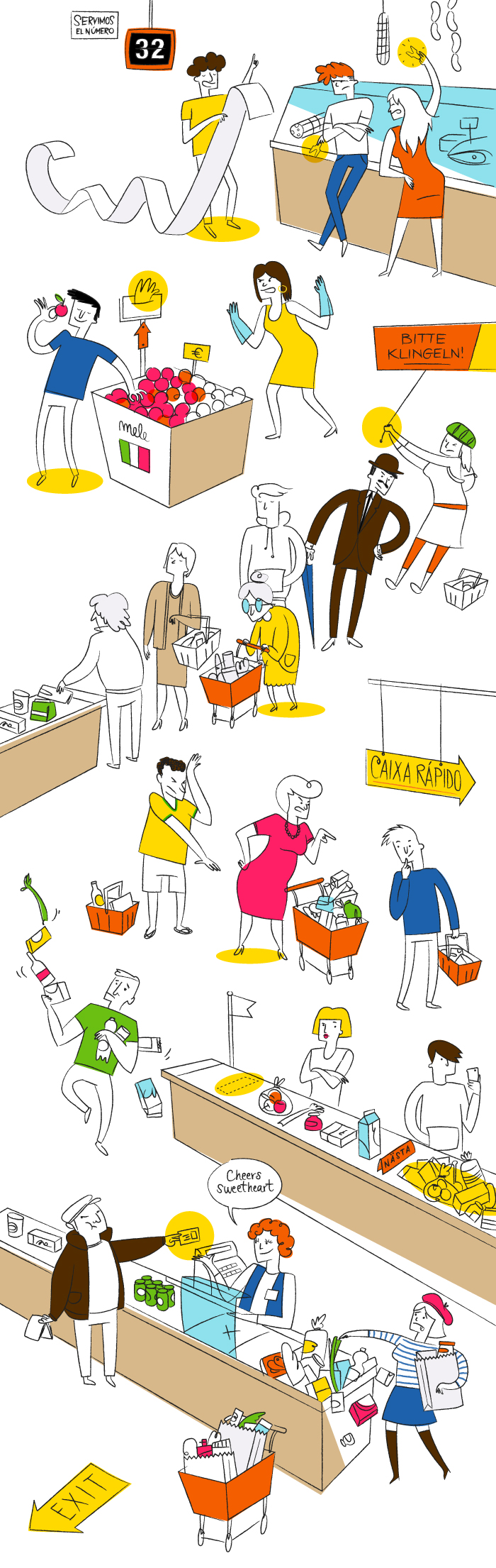 La controguida: come NON comportarsi al supermercato