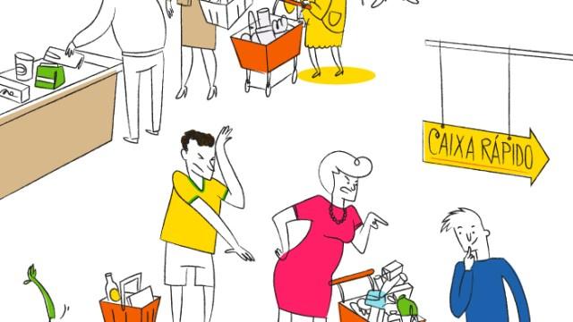 Um guia de como não se comportar em um supermercado global