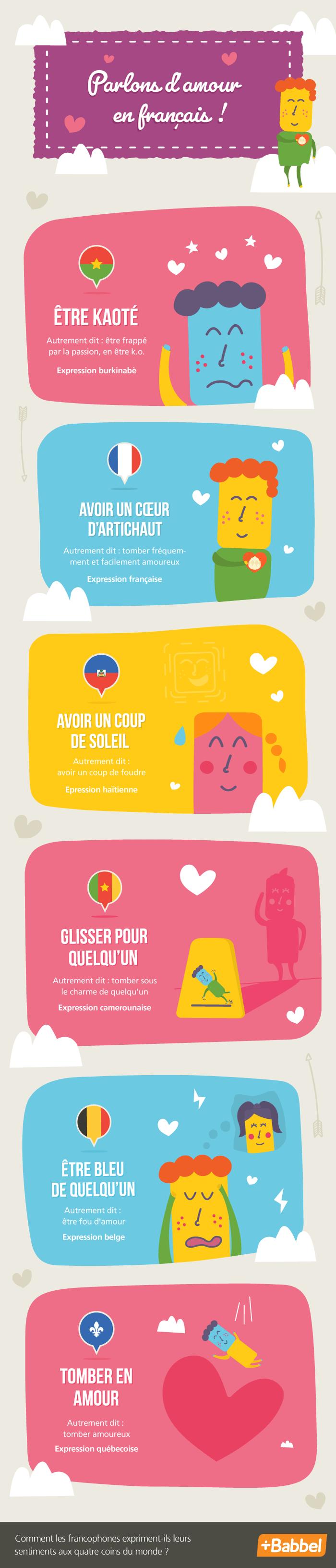 9 expressions françaises qui parlent d'amour