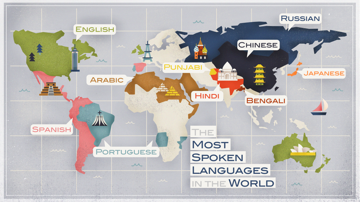 The 100 Map Of Earth.What Are The 10 Most Spoken Languages In The World Babbel Magazine