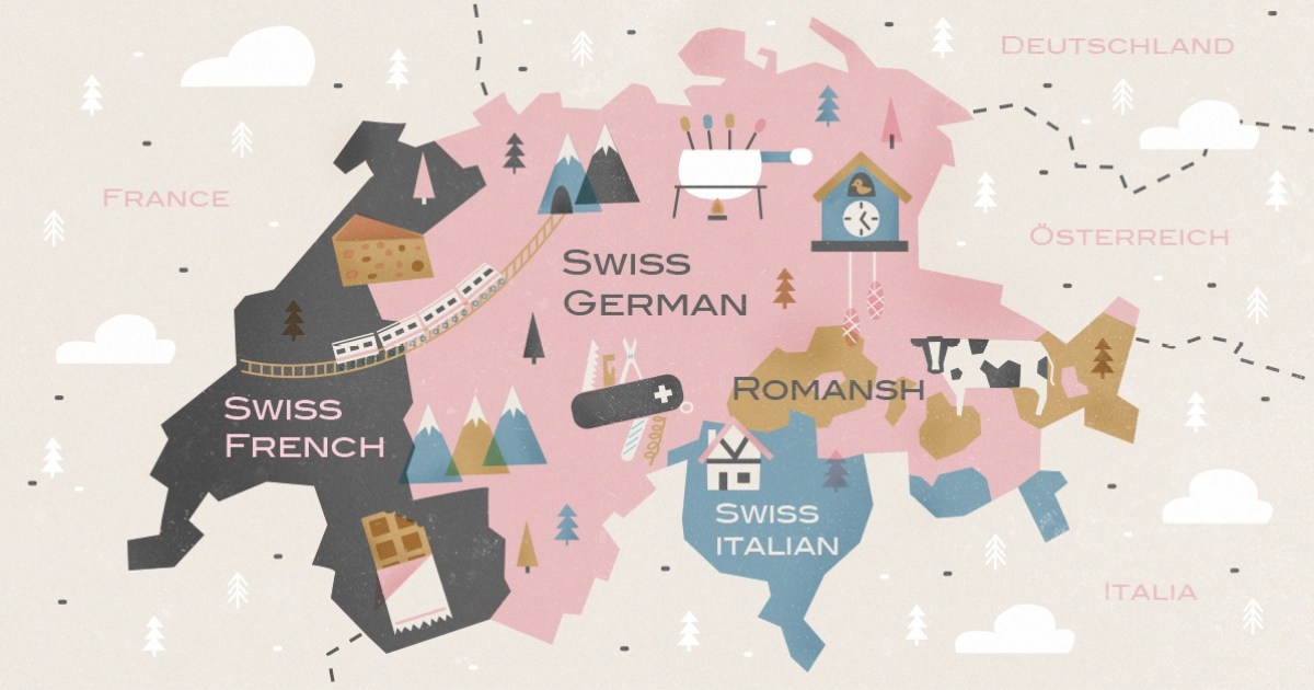 Switzerland Language Map What Are The Languages Spoken In Switzerland? | Babbel Magazine