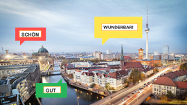 O que é que a Alemanha tem: Elogios em alemão, de *nicht schlecht* a *wunderbar*