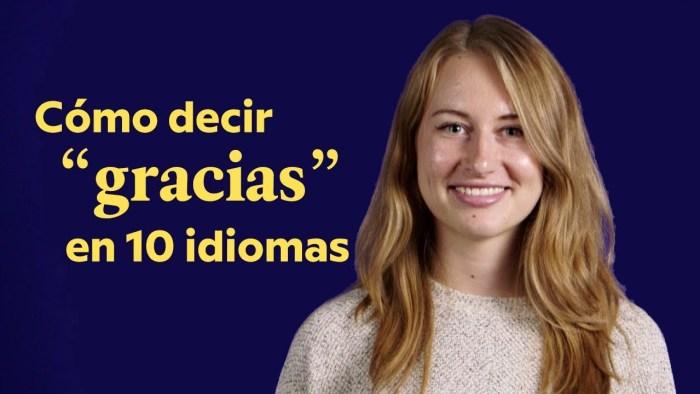 Cómo decir por favor y gracias en 10 idiomas