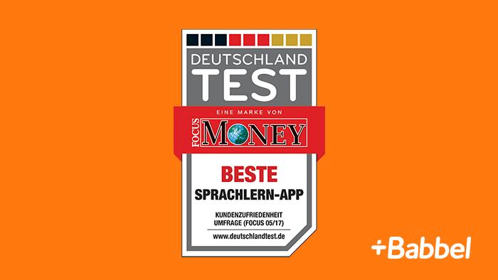 Babbel élue meilleure application d'apprentissage des langues en Allemagne !