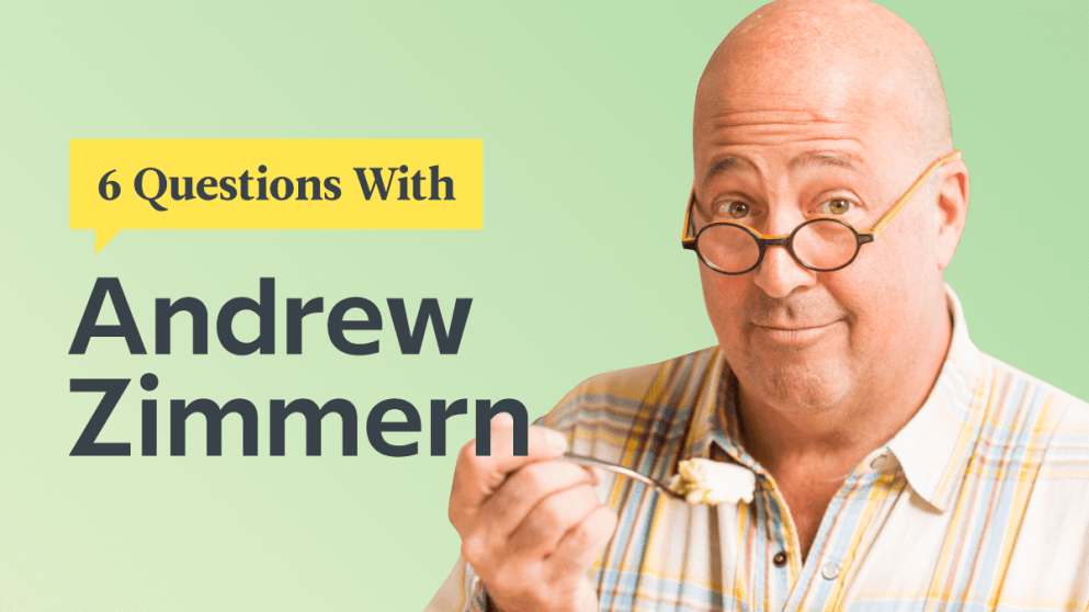 6 Questions With International Foodie Andrew Zimmern