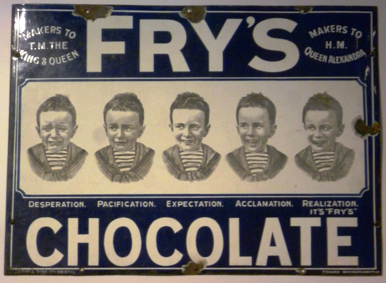 history of chocolate first bar