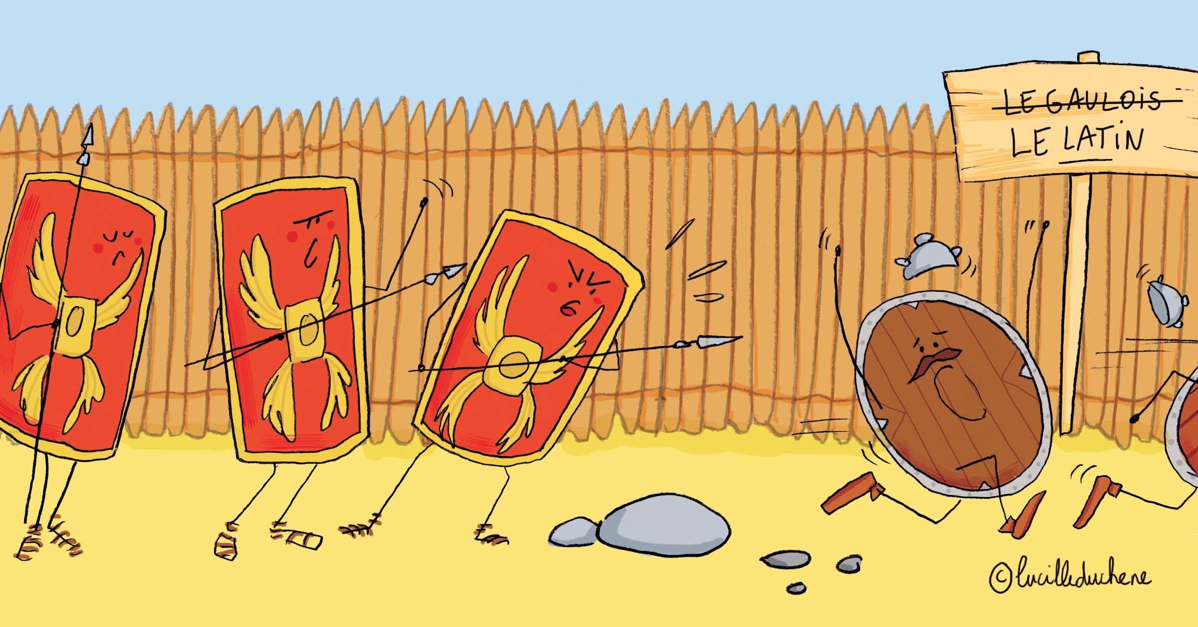 L'invasion de la Gaule par les Romain a fortement influencé l'évolution de la langue française