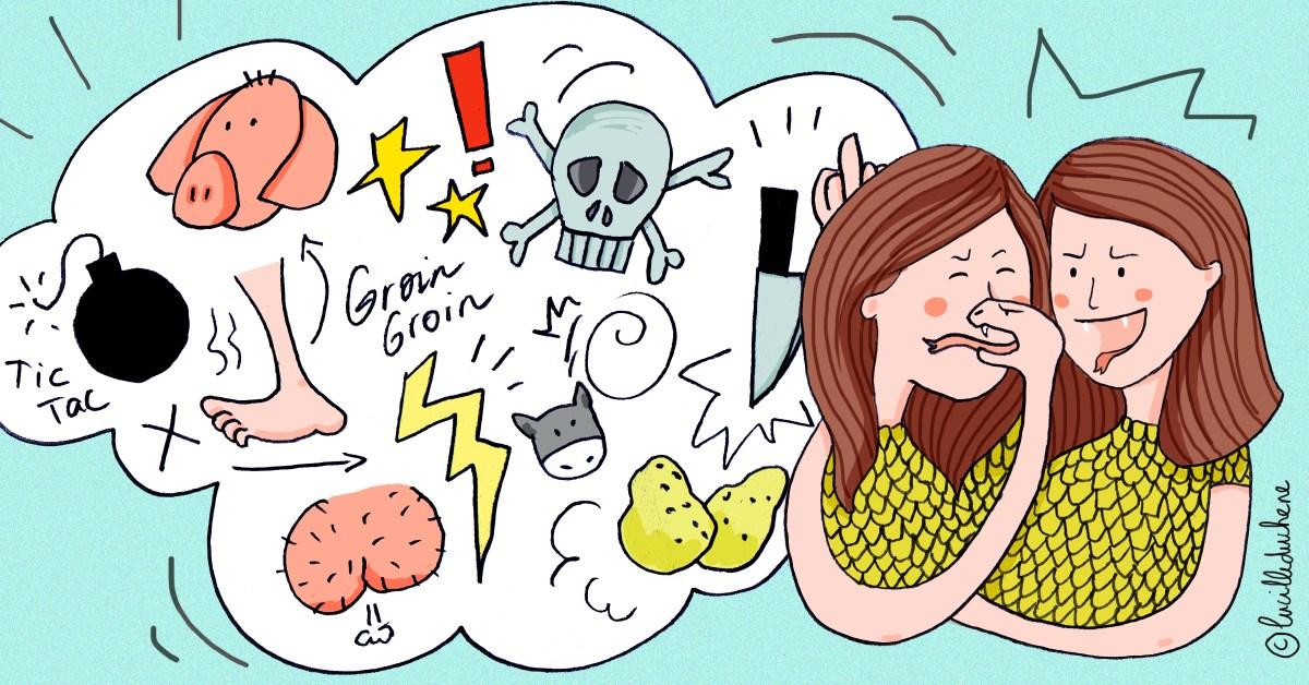 Une fille critique une autre personne en utilisant un vocabulaire imagé