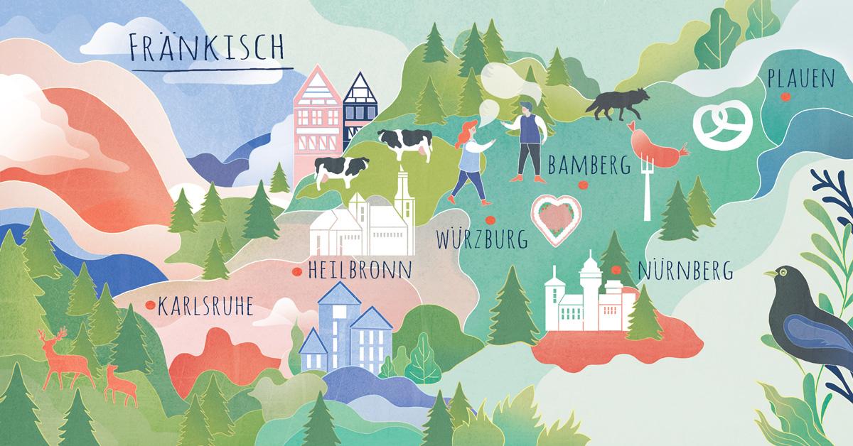 Fränkisch – der vielfältigste deutsche Dialekt? Finde es heraus!