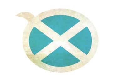 Drapeau écossais illustrant le galéique écossais, une autre des langues celtiques