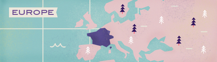An illustration highlighting French-speaking countries, including France, Switzerland, Luxembourg and Belgium | Babbel
