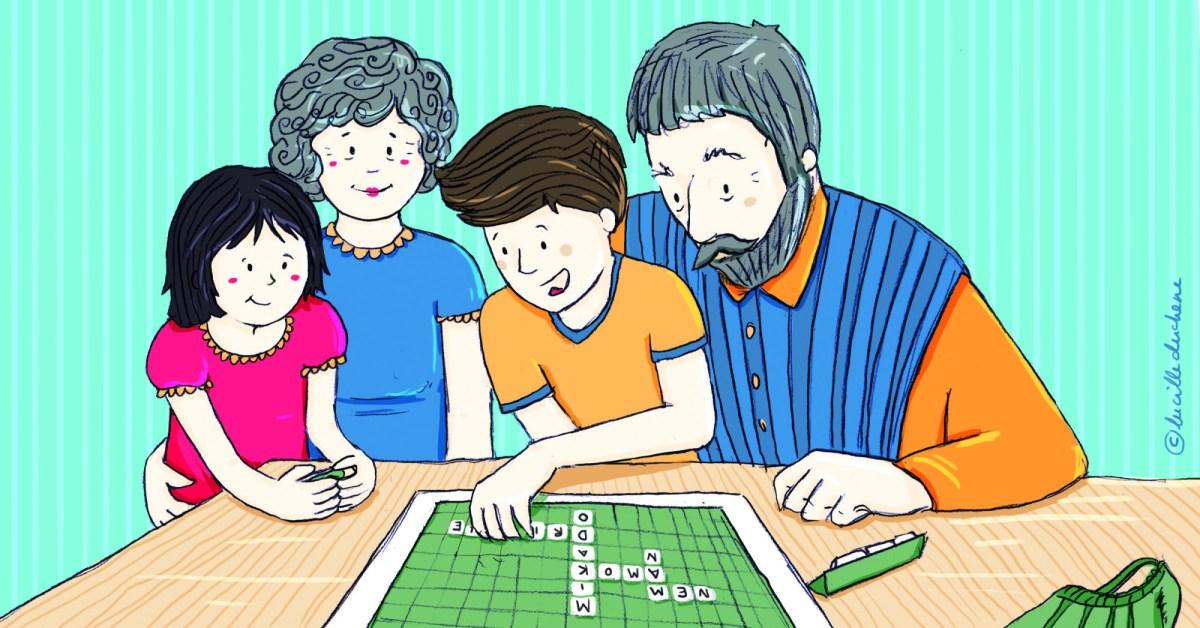 Großeltern spielen