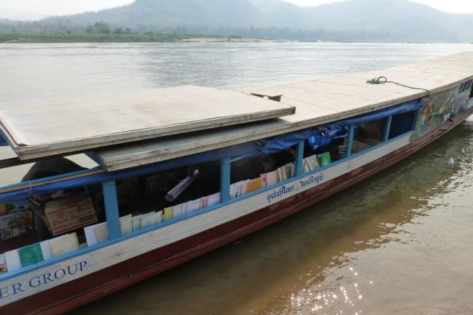Book boat in Laos