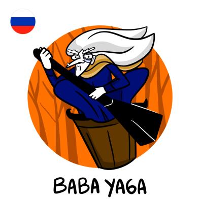 Baba Yaga - die russische Butzefrau