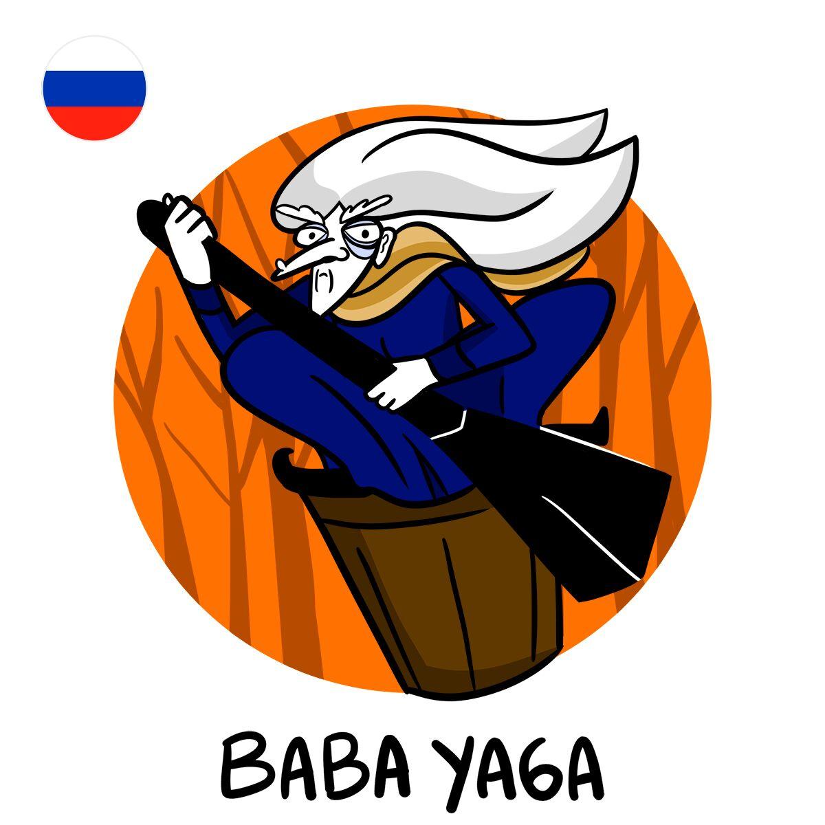 Connue partout dans le monde, Baba Yaga nous vient de Russie