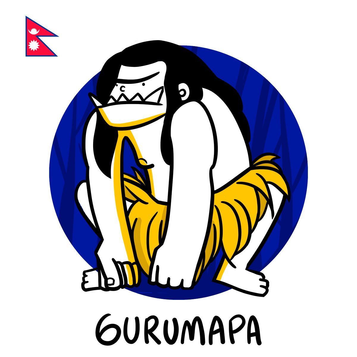 Gurumapa nous vient du Népal, et ressemble vaguement au yéti