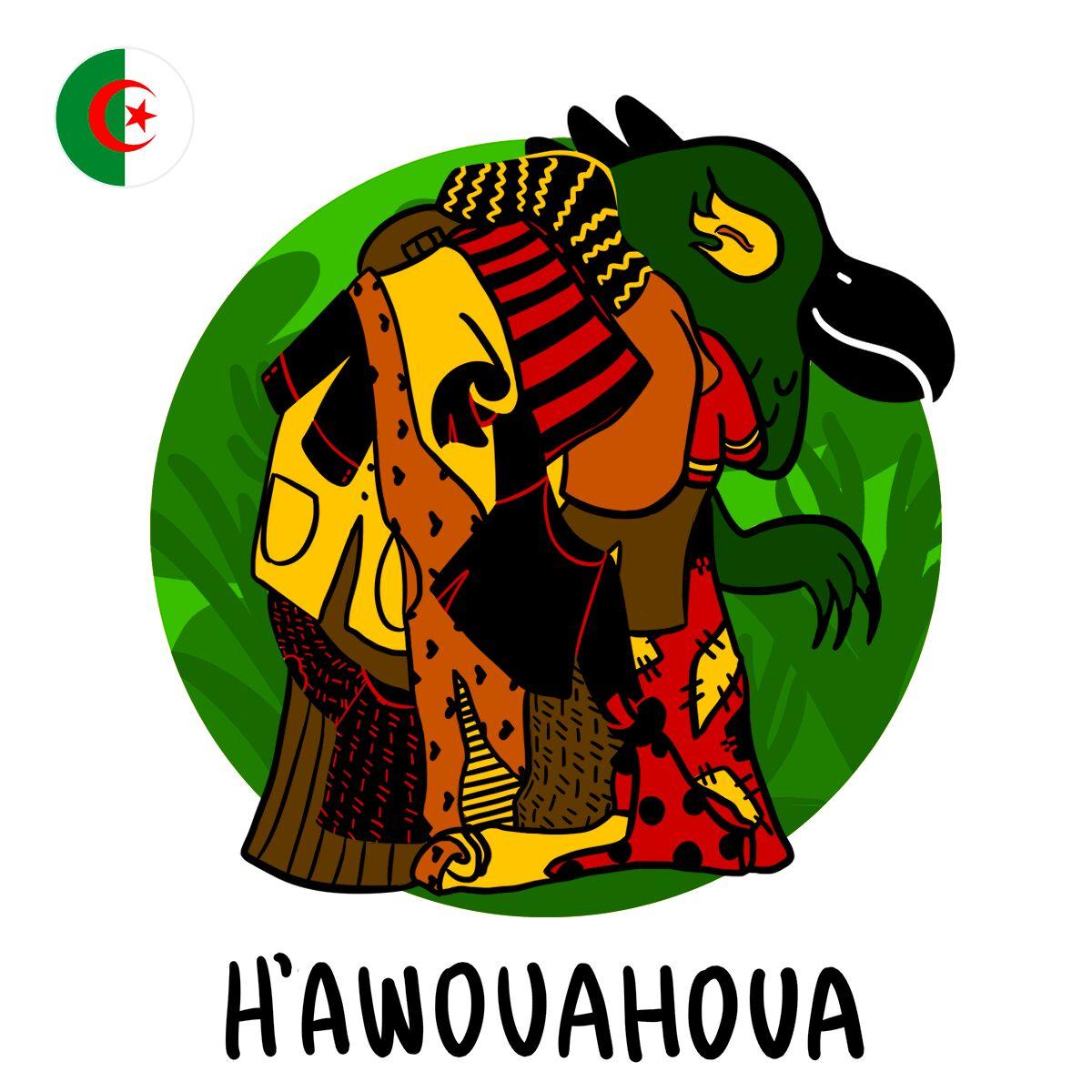 Selon la légende, h'awouahoua est un monstre dont le corps est constitué de… membres d'animaux